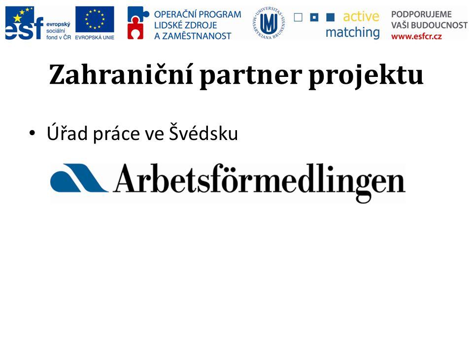Zahraniční partner projektu Úřad práce ve Švédsku