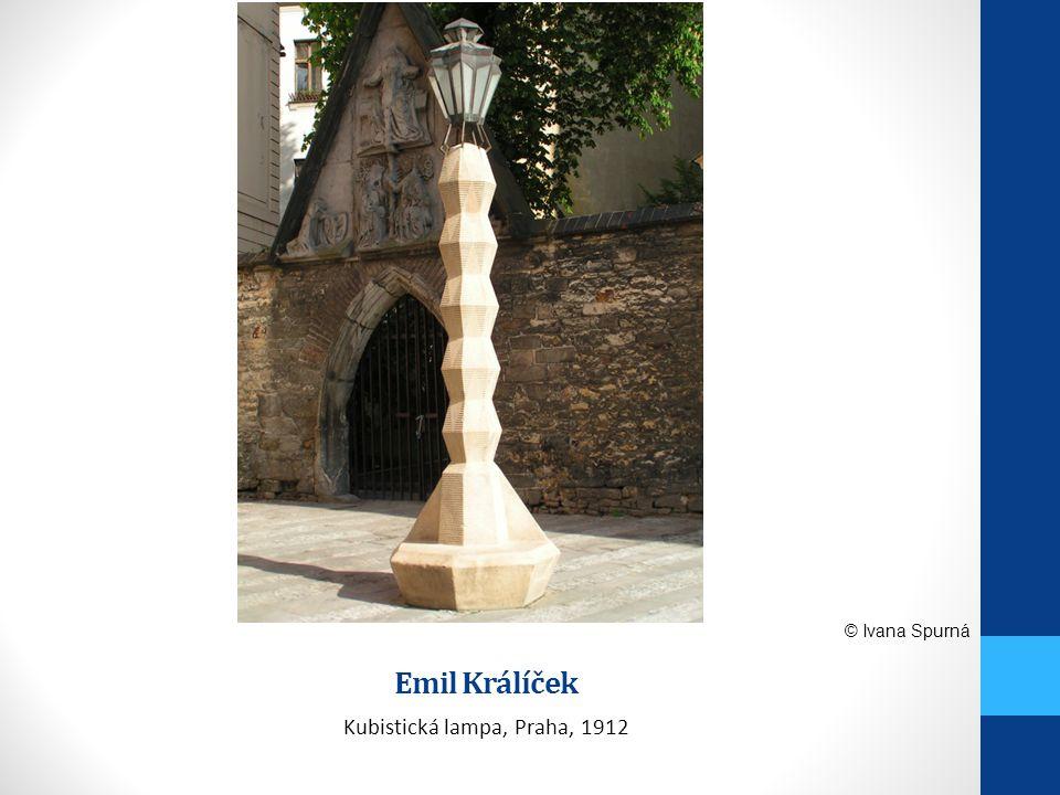 Emil Králíček Kubistická lampa, Praha, 1912 © Ivana Spurná