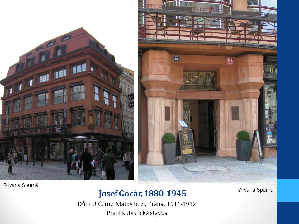 Josef Gočár, 1880-1945 Dům U Černé Matky boží, Praha, 1911-1912 První kubistická stavba © Ivana Spurná