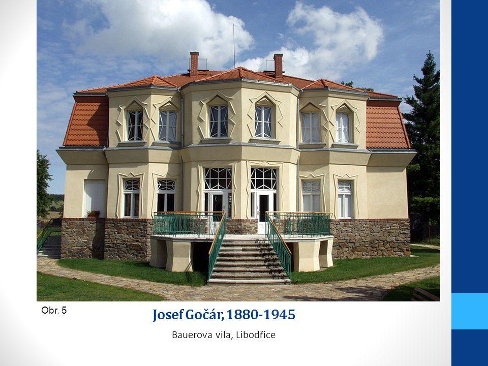 Josef Gočár, 1880-1945 Bauerova vila, Libodřice Obr. 5