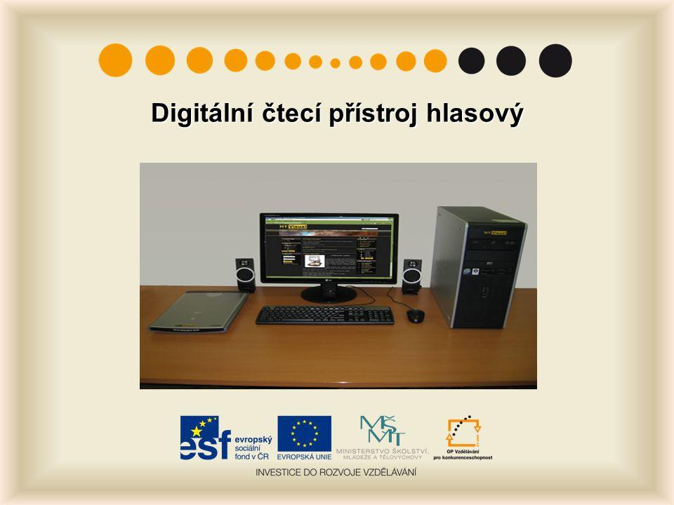 Digitální čtecí přístroj hlasový