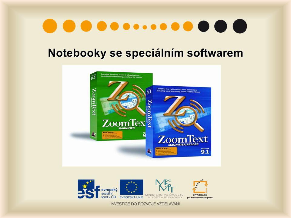 Notebooky se speciálním softwarem