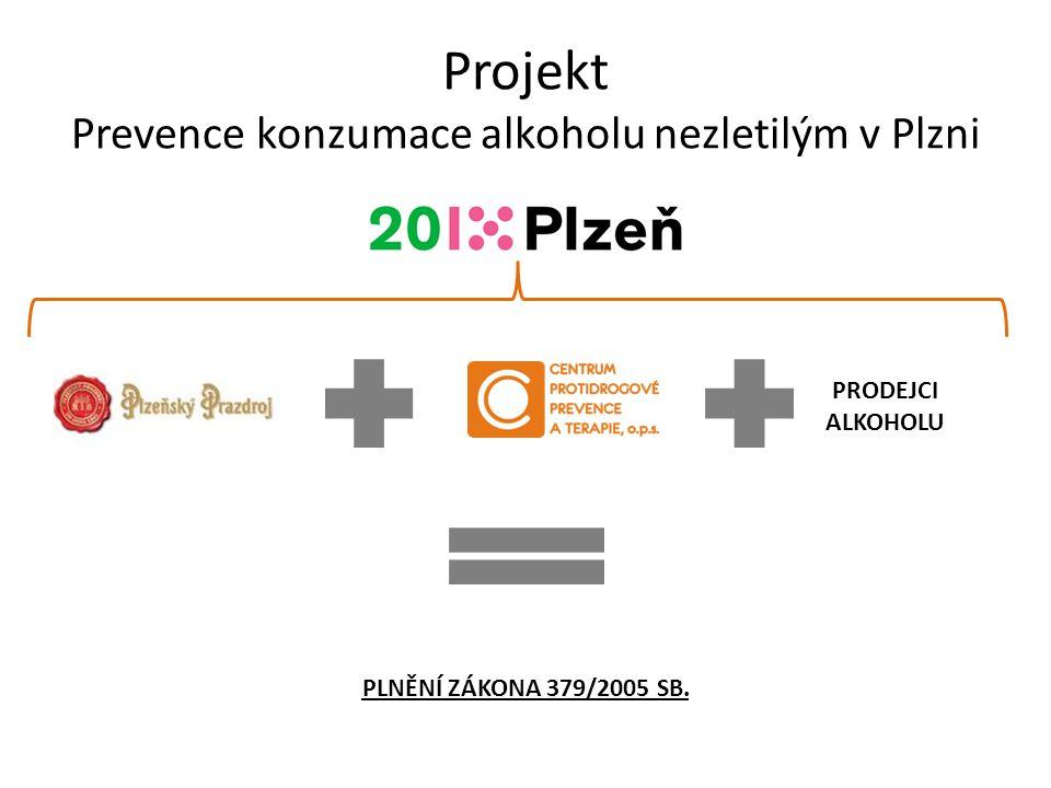 Projekt Prevence konzumace alkoholu nezletilým v Plzni PRODEJCI ALKOHOLU PLNĚNÍ ZÁKONA 379/2005 SB.