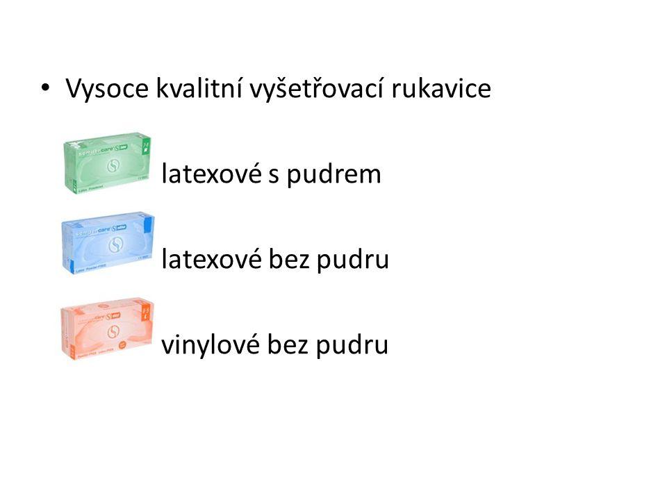 Vysoce kvalitní vyšetřovací rukavice latexové s pudrem latexové bez pudru vinylové bez pudru