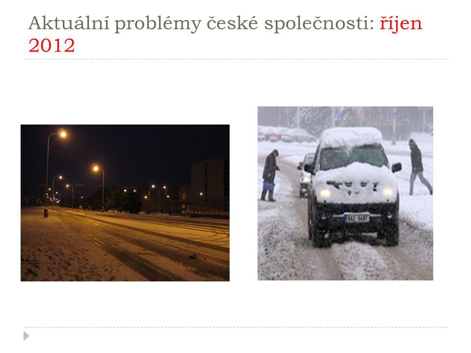 Aktuální problémy české společnosti: říjen 2012