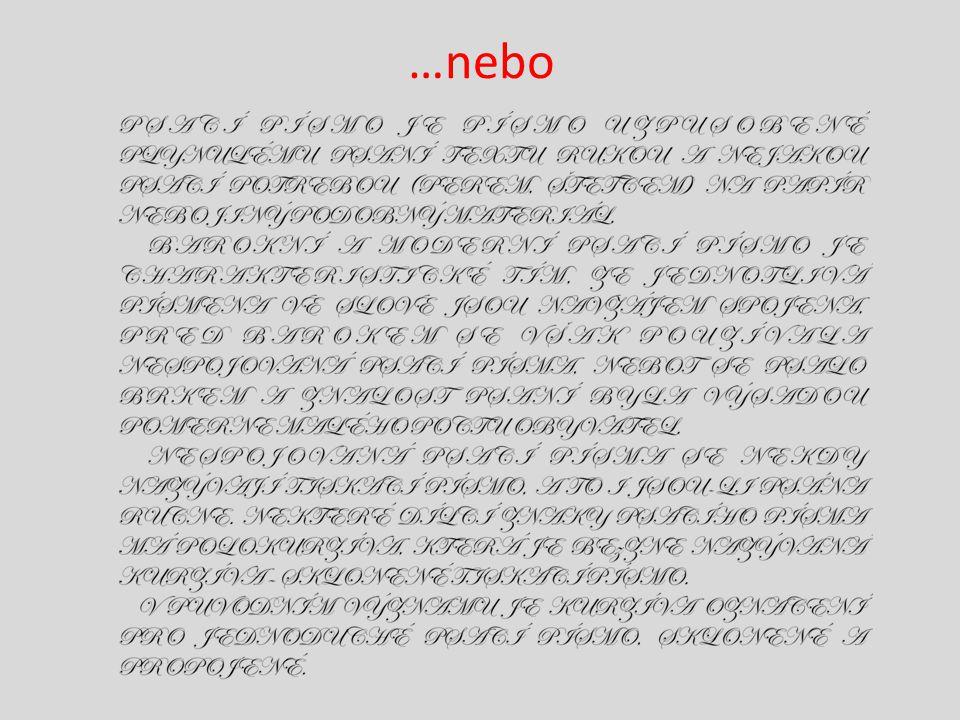 Klíčová slova Font Skript Grotesk Antikva Verzálka Minuska