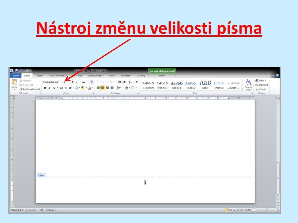 Velikost písma je dobré volit až po napsání celého textu v závislosti na jeho účelu určení a množství.