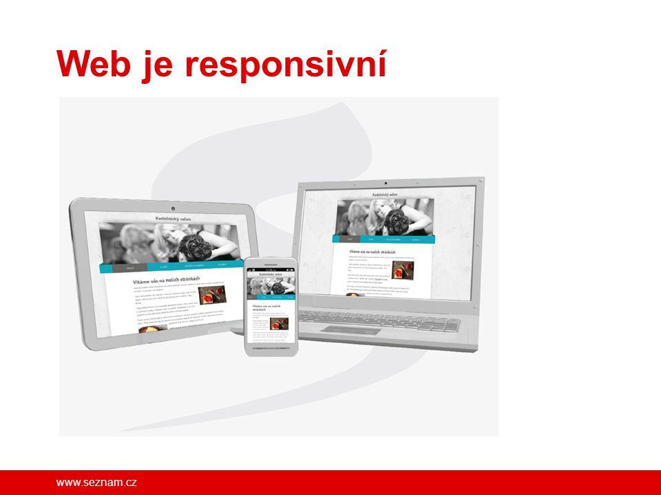 www.seznam.cz Webmium – nástroj pro tvorbu a správu moderního webu Nastavení pro vyhledávače - SEO Vlastní doména 2.