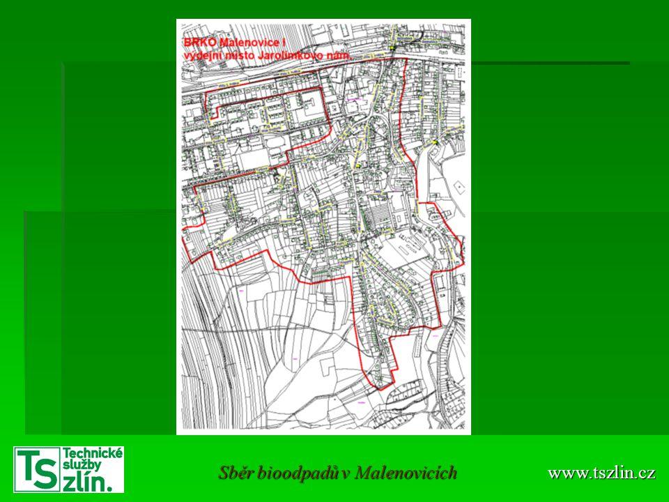 Předání nádob občanům Oblast Malenovice II Oblast Malenovice II Výdejní místo: křižovatka ulic Světlov a I.