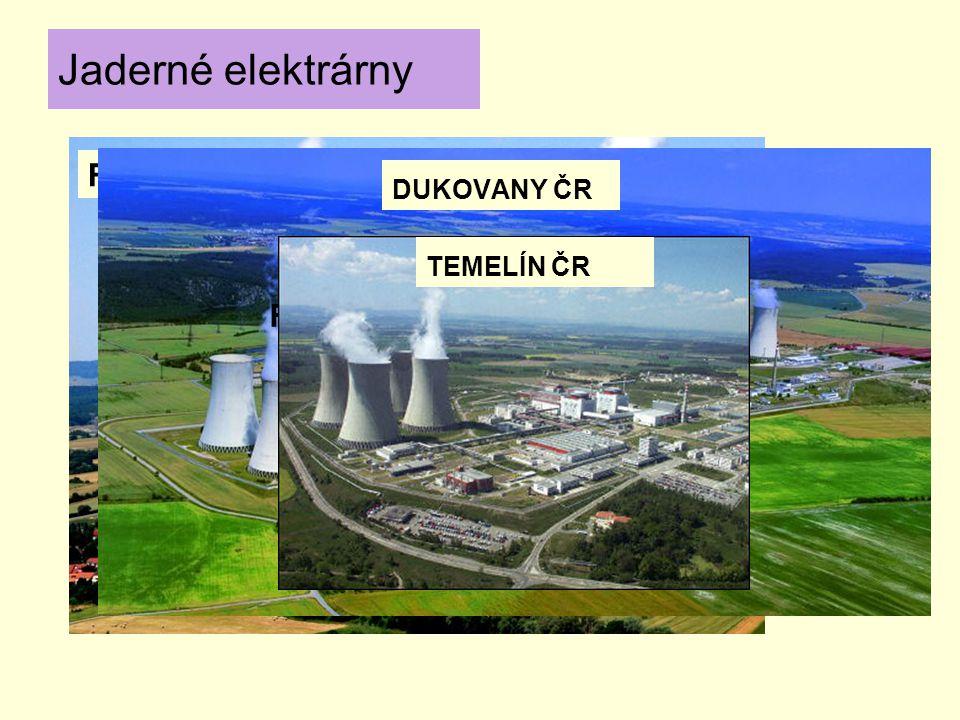 FRANCIE DUKOVANY ČR Jaderné elektrárny FERMI 2 USA TEMELÍN ČR