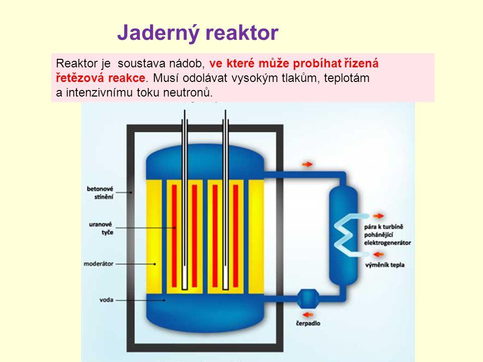 Reaktor je soustava nádob, ve které může probíhat řízená řetězová reakce. Musí odolávat vysokým tlakům, teplotám a intenzivnímu toku neutronů. Jaderný