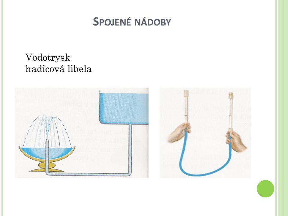 S POJENÉ NÁDOBY Vodotrysk hadicová libela