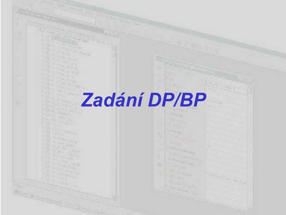 Zadání DP/BP