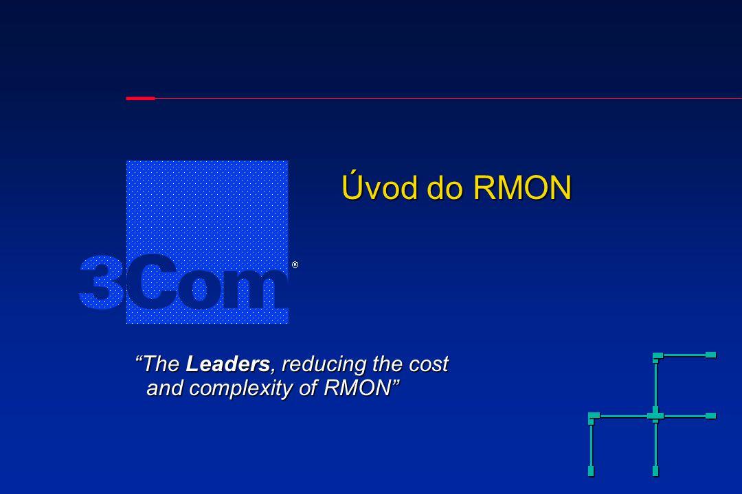 Data Konsole pro řízení sítě (kontroluje a zobrazuje data) (Musí být připojena do sítě - i mimo pásmo, nebo na jiný segment sítě LAN, než na který je připojena sonda) Sonda RMON (Agent) Promiskuitně sleduje data na síti LAN, ke které je připojena Uživatelské PC Co je RMON?
