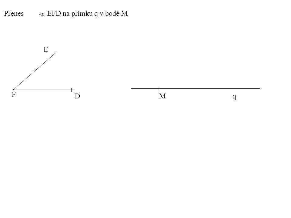 Přenes AVB na přímku r v bodě R A V B R r