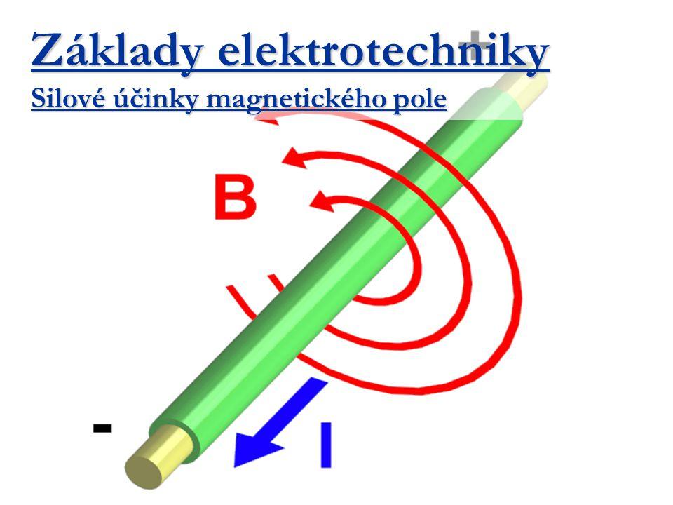 Základy elektrotechniky Silové účinky magnetického pole