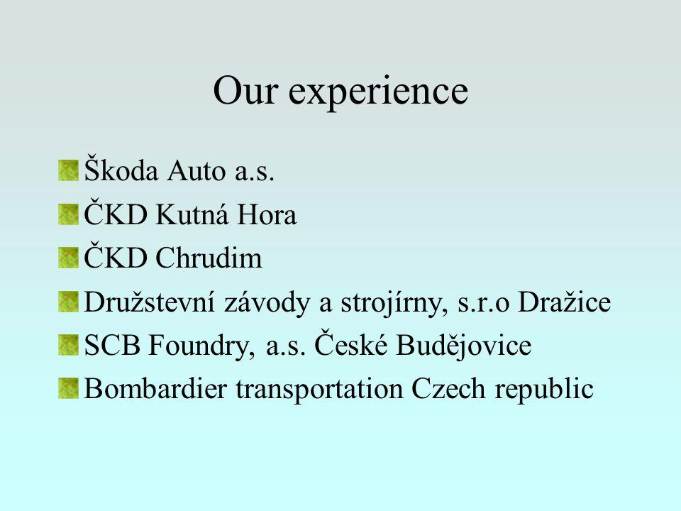 Our experience Škoda Auto a.s.