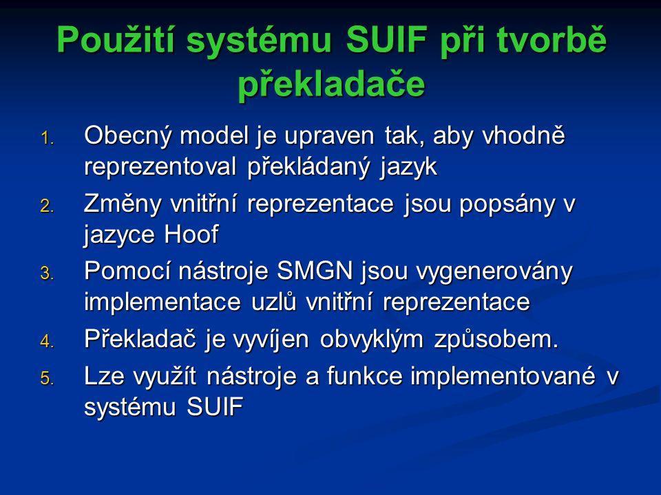 Použití systému SUIF při tvorbě překladače 1.