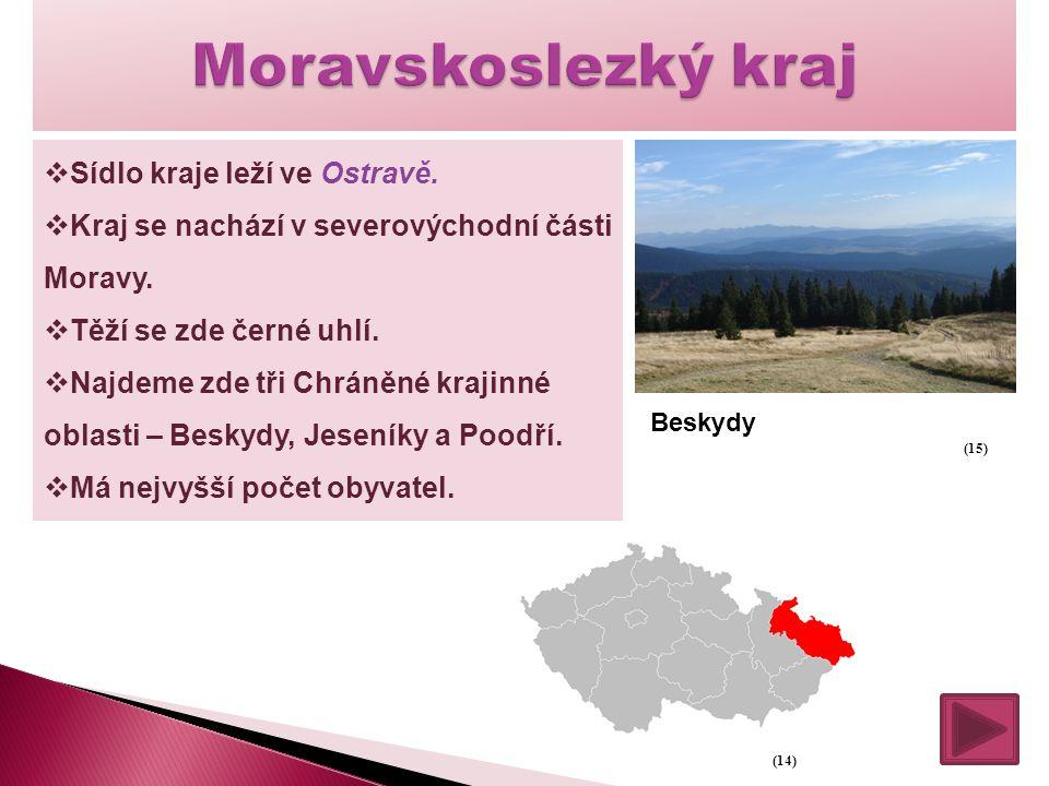  Sídlo kraje leží ve Ostravě.  Kraj se nachází v severovýchodní části Moravy.  Těží se zde černé uhlí.  Najdeme zde tři Chráněné krajinné oblasti