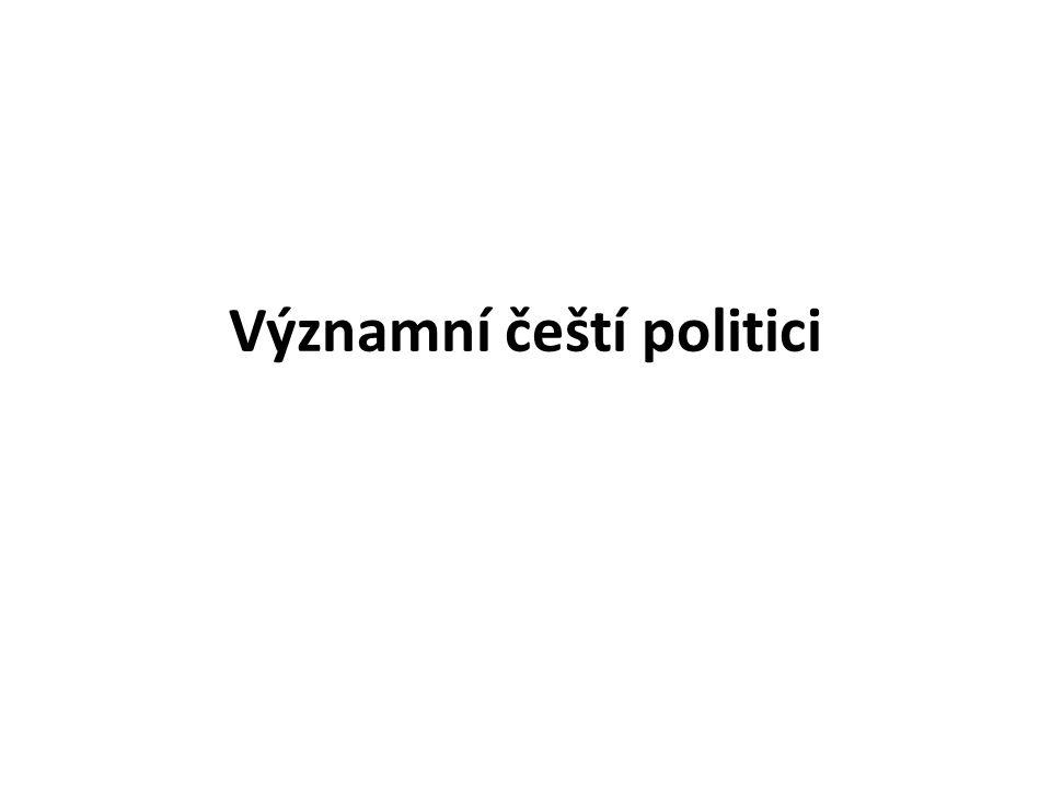 Významní čeští politici