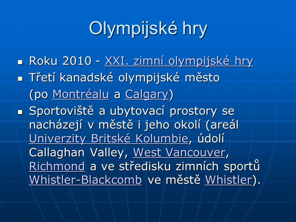 Olympijské hry Roku 2010 - XXI.zimní olympijské hry Roku 2010 - XXI.