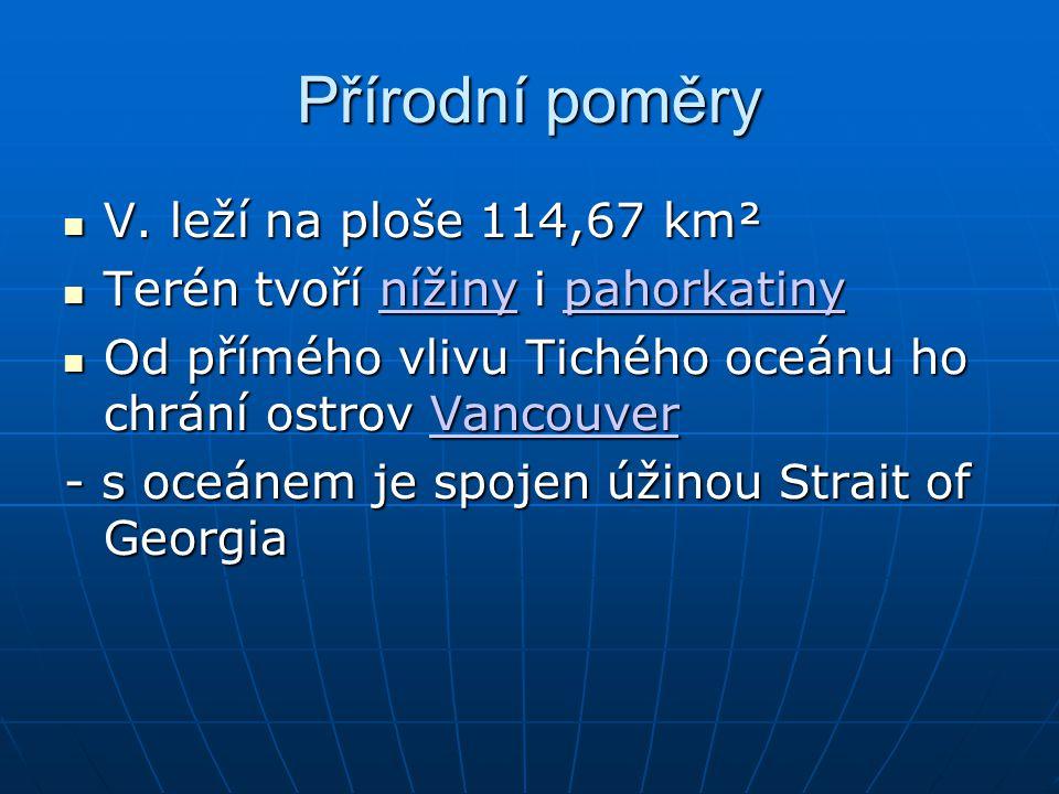 Přírodní poměry V.leží na ploše 114,67 km² V.