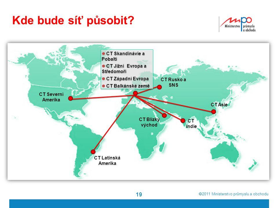  2011  Ministerstvo průmyslu a obchodu 19 Kde bude síť působit.