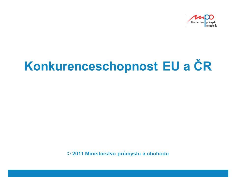 Konkurenceschopnost EU a ČR © 2011 Ministerstvo průmyslu a obchodu