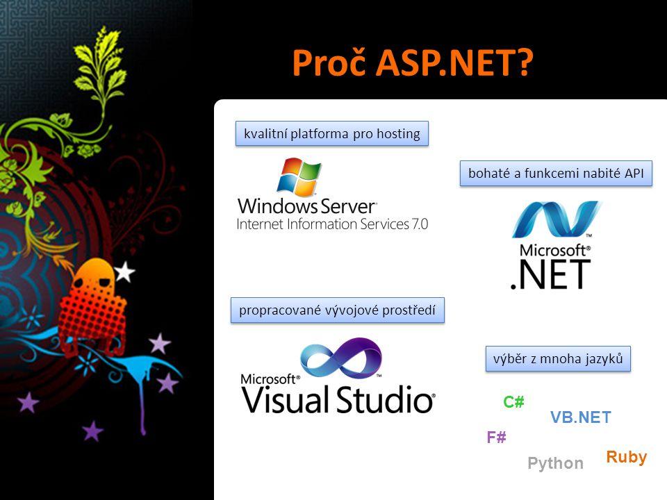 Proč ASP.NET.
