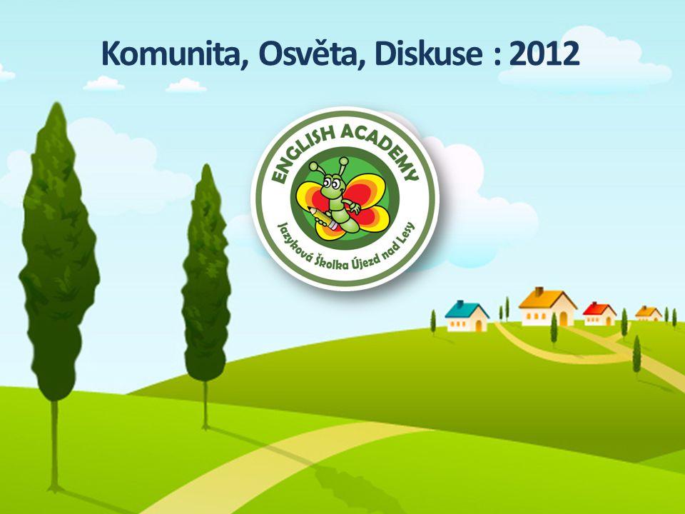 Komunita, Osvěta, Diskuse : 2012
