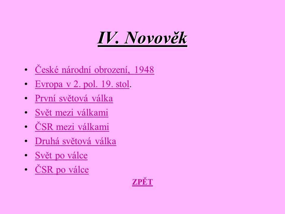 České nár. obrození, 1848 ZPĚT