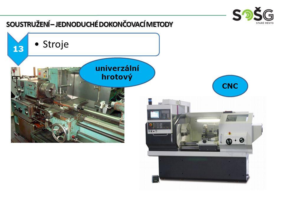 SOUSTRUŽENÍ – JEDNODUCHÉ DOKONČOVACÍ METODY 13 Stroje CNC univerzální hrotový