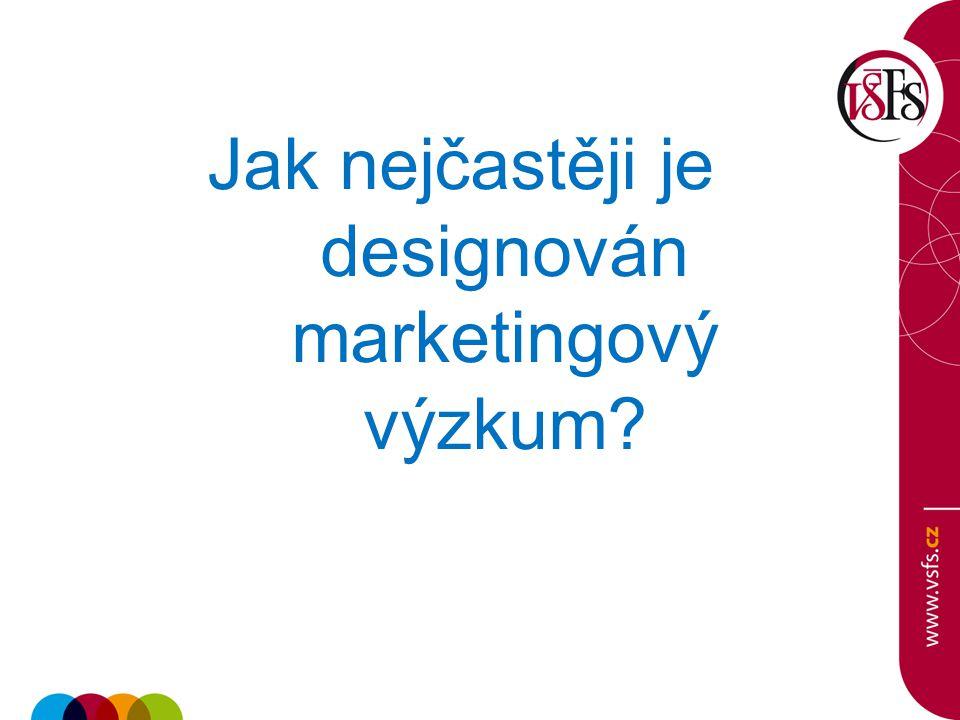 Jak nejčastěji je designován marketingový výzkum?