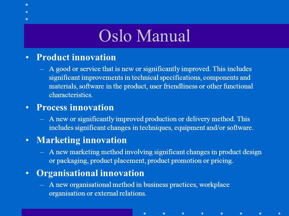 Stupně inovací Přírůstkové (inkrementální): méně významné nápady, důležité při zdokonalování produktů a procesů (nová typová řada počítačů, automobilů apod.) Radikální: významné nápady, které ovlivňují nebo způsobují významné změny v celém odvětví (zavedení tranzistoru, proudový letecký motor, apod.) Systémové: nápady, k jejichž realizaci je zapotřebí různých zdrojů a značného úsilí (komunikační sítě, penzijní a zdravotní systém).