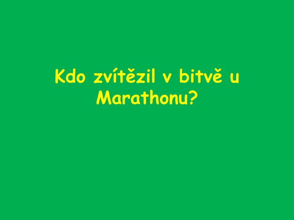 Kdo zvítězil v bitvě u Marathonu?