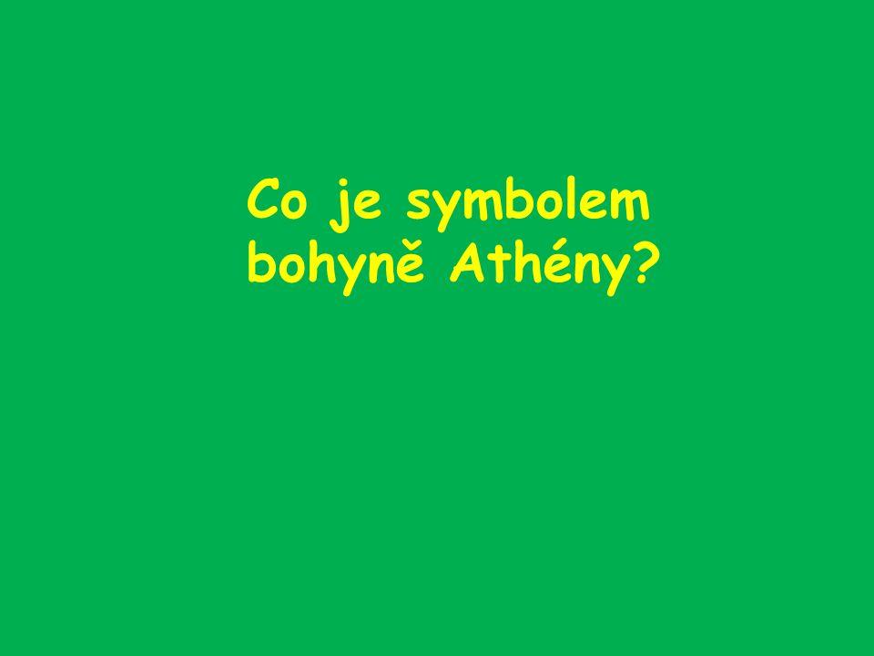 Co je symbolem bohyně Athény?