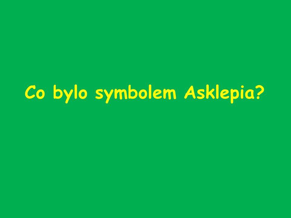 Co bylo symbolem Asklepia