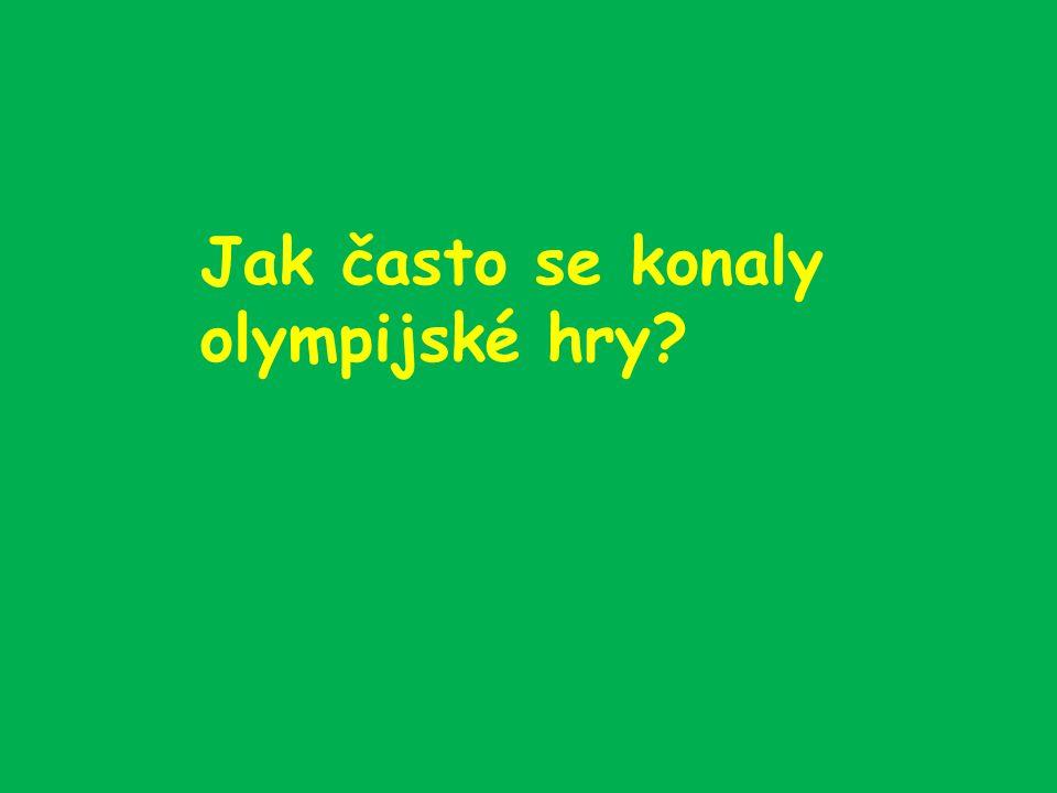 Jak často se konaly olympijské hry?