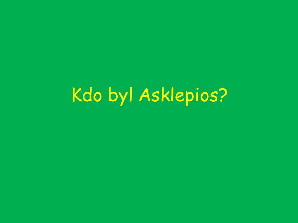 Kdo byl Asklepios?