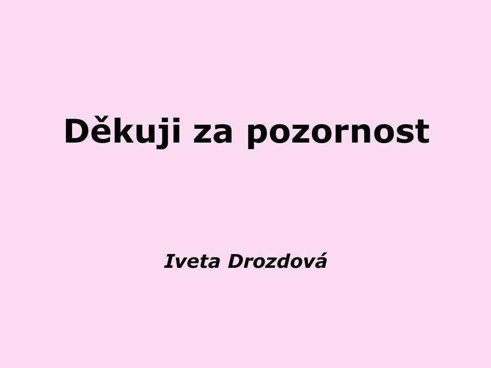 Děkuji za pozornost Iveta Drozdová