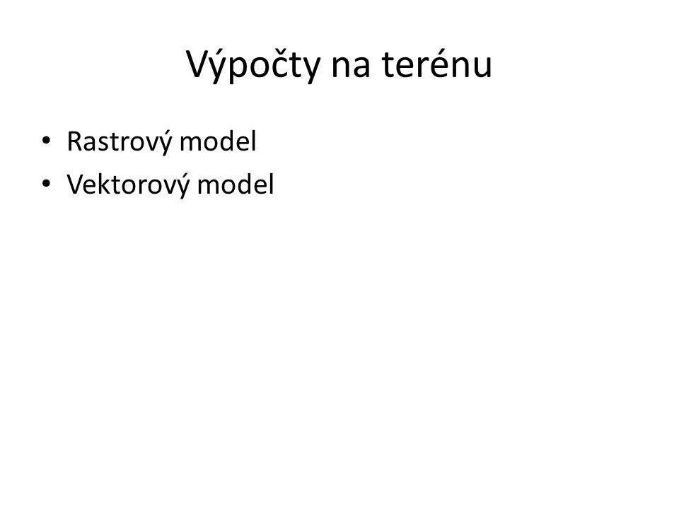 Výpočty na terénu Rastrový model Vektorový model