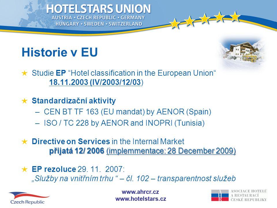 www.ahrcr.cz www.hotelstars.cz www.ahrcr.cz www.hotelstars.cz PROČ SPOLEČNÁ KLASIFIKACE.