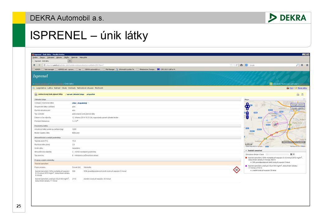 DEKRA Automobil a.s. ISPRENEL 26 www.isprenel.cz