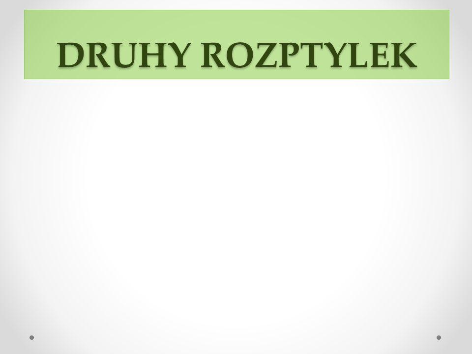 DRUHY ROZPTYLEK