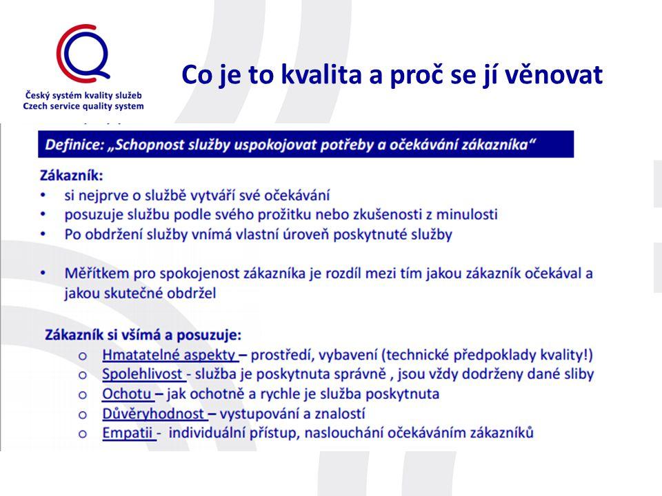 Základní fakta o systému ČSKS je nástrojem napomáhajícím ke zvyšování kvality poskytovaných služeb.