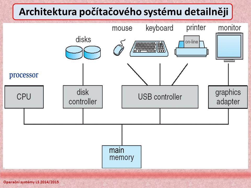 Operační systémy LS 2014/2015 Architektura počítačového systému detailněji
