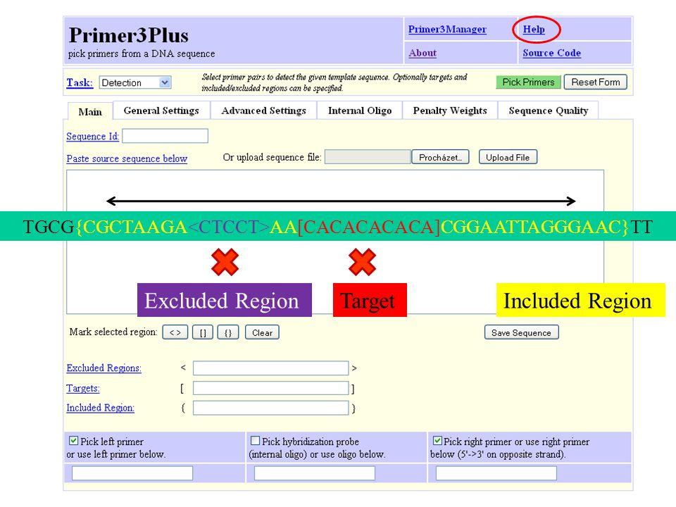 TGCG{CGCTAAGA AA[CACACACACA]CGGAATTAGGGAAC}TT Included RegionTargetExcluded Region