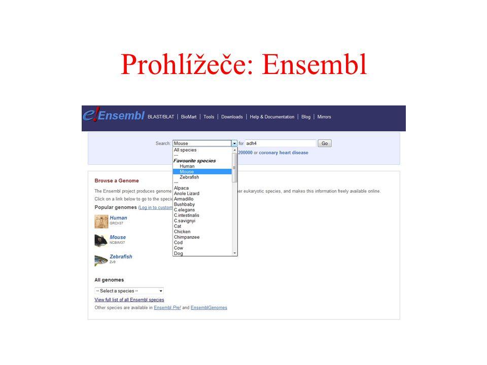 Prohlížeče: Ensembl