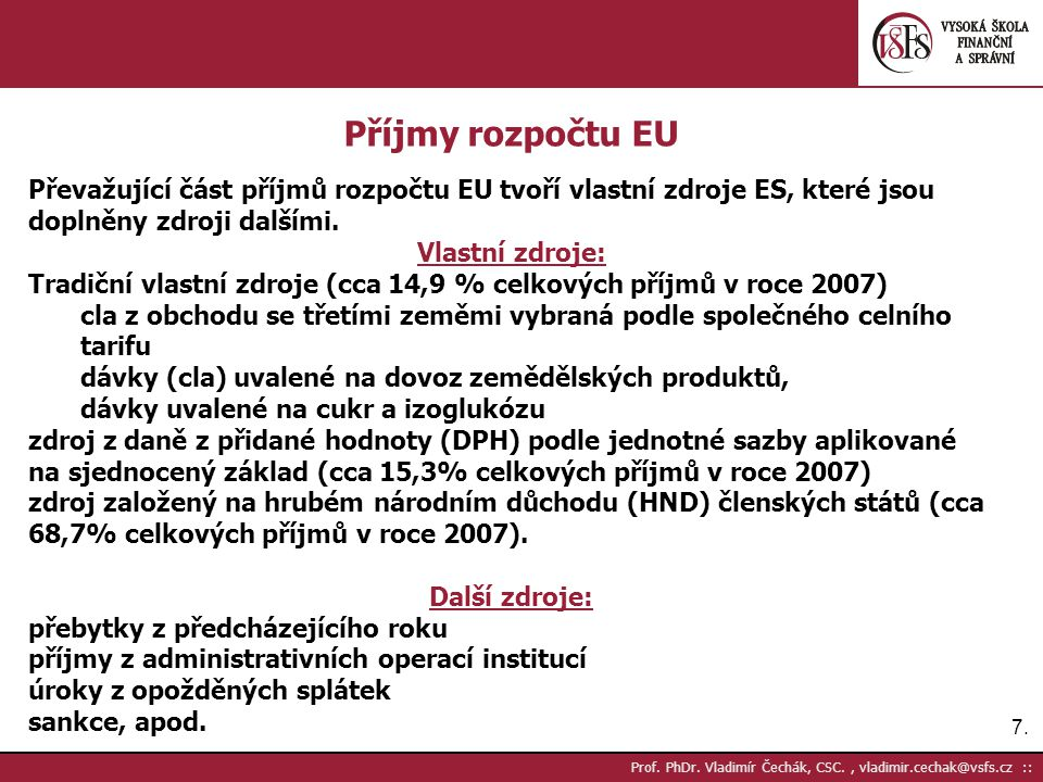 7.7. Prof. PhDr.