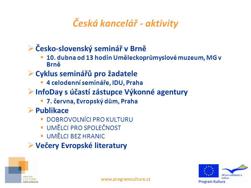 Česká kancelář - aktivity  Česko-slovenský seminář v Brně  10.